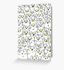 All Cat Eyes Are On You Greeting Card