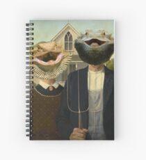 Cuaderno de espiral Bearded Dragon American Gothic