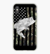 Camouflage Flag Bass Fishing Angler iPhone Case