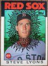 077 - Steve Lyons by Foob's Baseball Cards