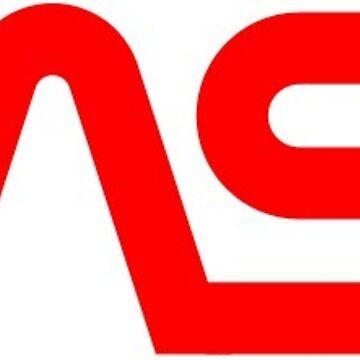 Retro NASA Worm Logo  by CarterCooper