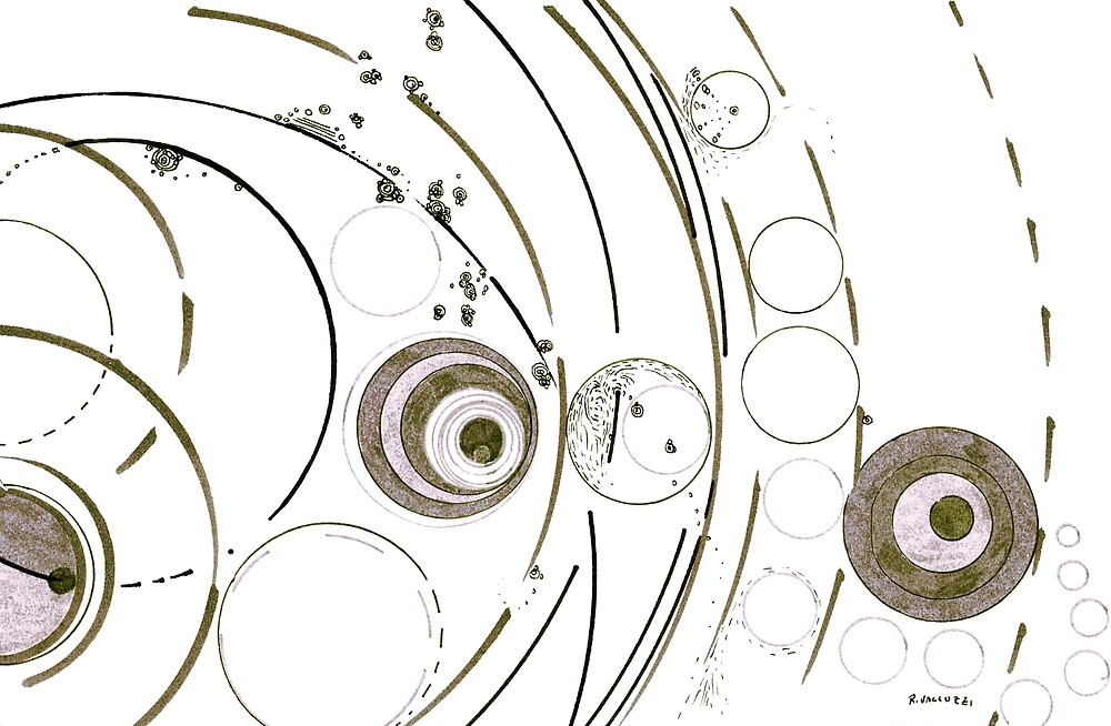 Planetary nursery - ink on paper by Regina Valluzzi