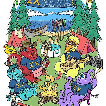 Monsters Camping by bgilbert