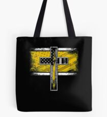 Police Dispatch Thin Gold Line Dispatcher Police Dispatcher Tote Bag
