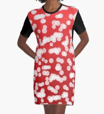 Blurry Lights: Coral Pink Graphic T-Shirt Dress