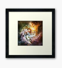 Fluid Movement Abstract Art Framed Print
