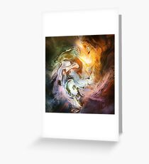 Fluid Movement Abstract Art Greeting Card