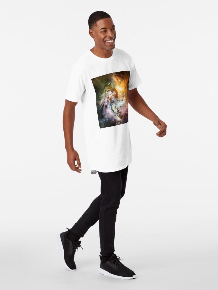 Alternate view of Fluid Movement Abstract Art Long T-Shirt