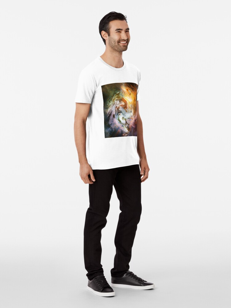 Alternate view of Fluid Movement Abstract Art Premium T-Shirt