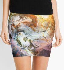 Fluid Movement Abstract Art Mini Skirt