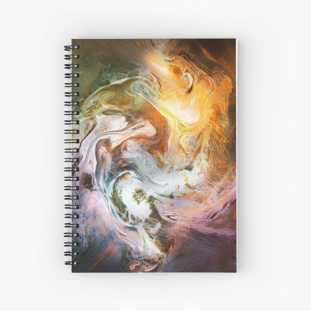 Fluid Movement Abstract Art Spiral Notebook