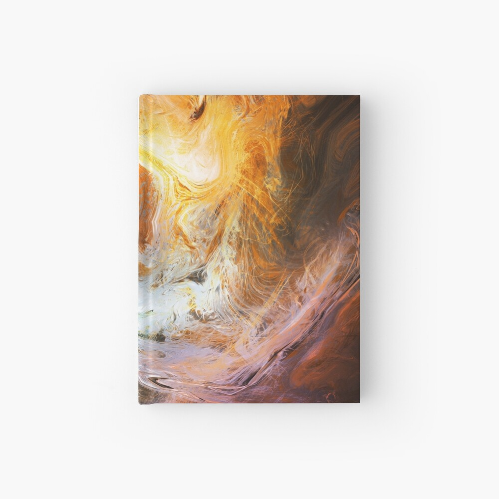 Fluid Movement Abstract Art Hardcover Journal