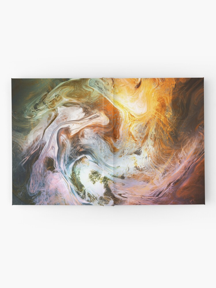 Alternate view of Fluid Movement Abstract Art Hardcover Journal