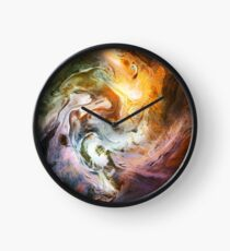 Fluid Movement Abstract Art Clock
