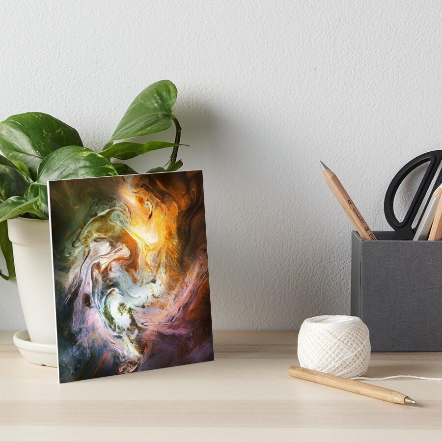 Fluid Movement Abstract Art Art Board Print