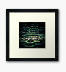Into the Grid Framed Print