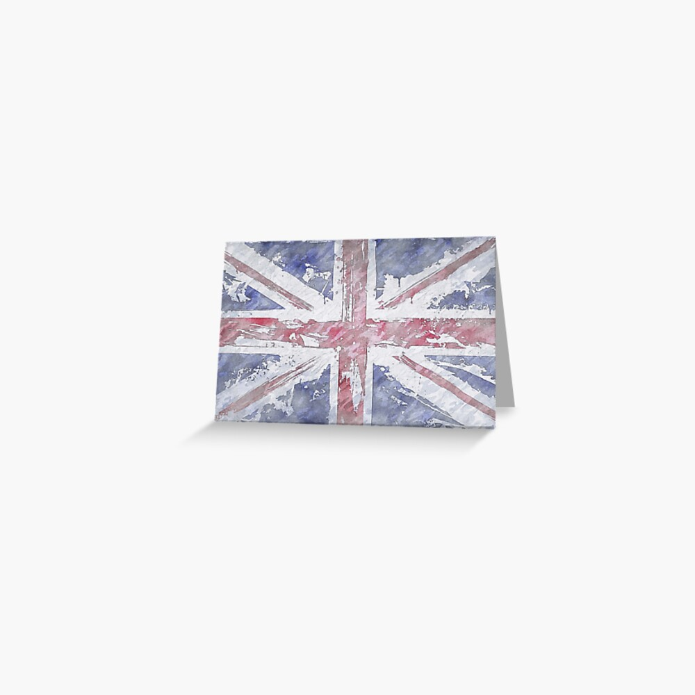 Rustic Union Jack Flag Greeting Card