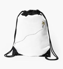 """Hi"" as a Kite Graphic Design Drawstring Bag"