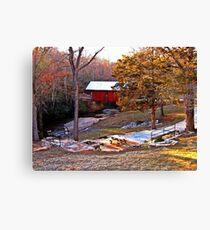 South Carolina's Only Covered Bridge Canvas Print