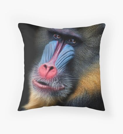 Painted Nature Throw Pillow