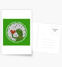 Kermit Sipping Tea (But that's none of my business) Postcards