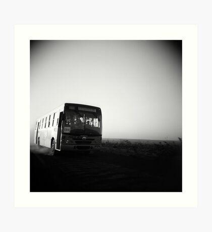 Dusty Ride Art Print