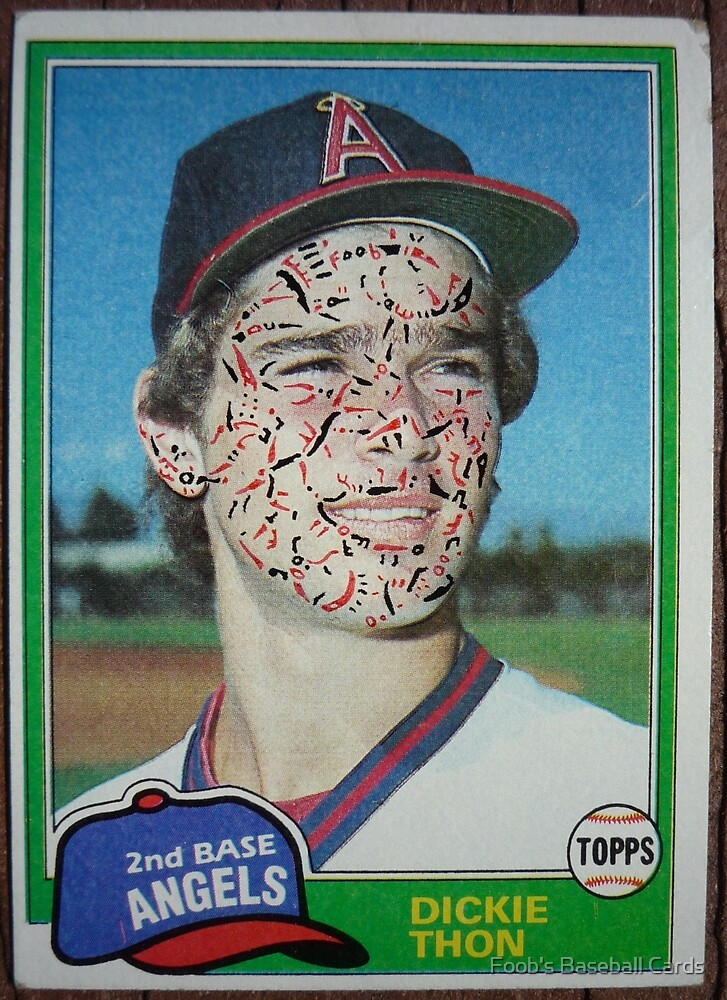 093 - Dickie Thon by Foob's Baseball Cards