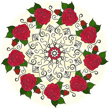 Roses Are Red Mandala by EmpressEyrie