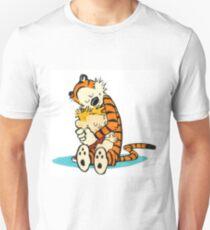 Calvin and Hobbes Hugging Unisex T-Shirt