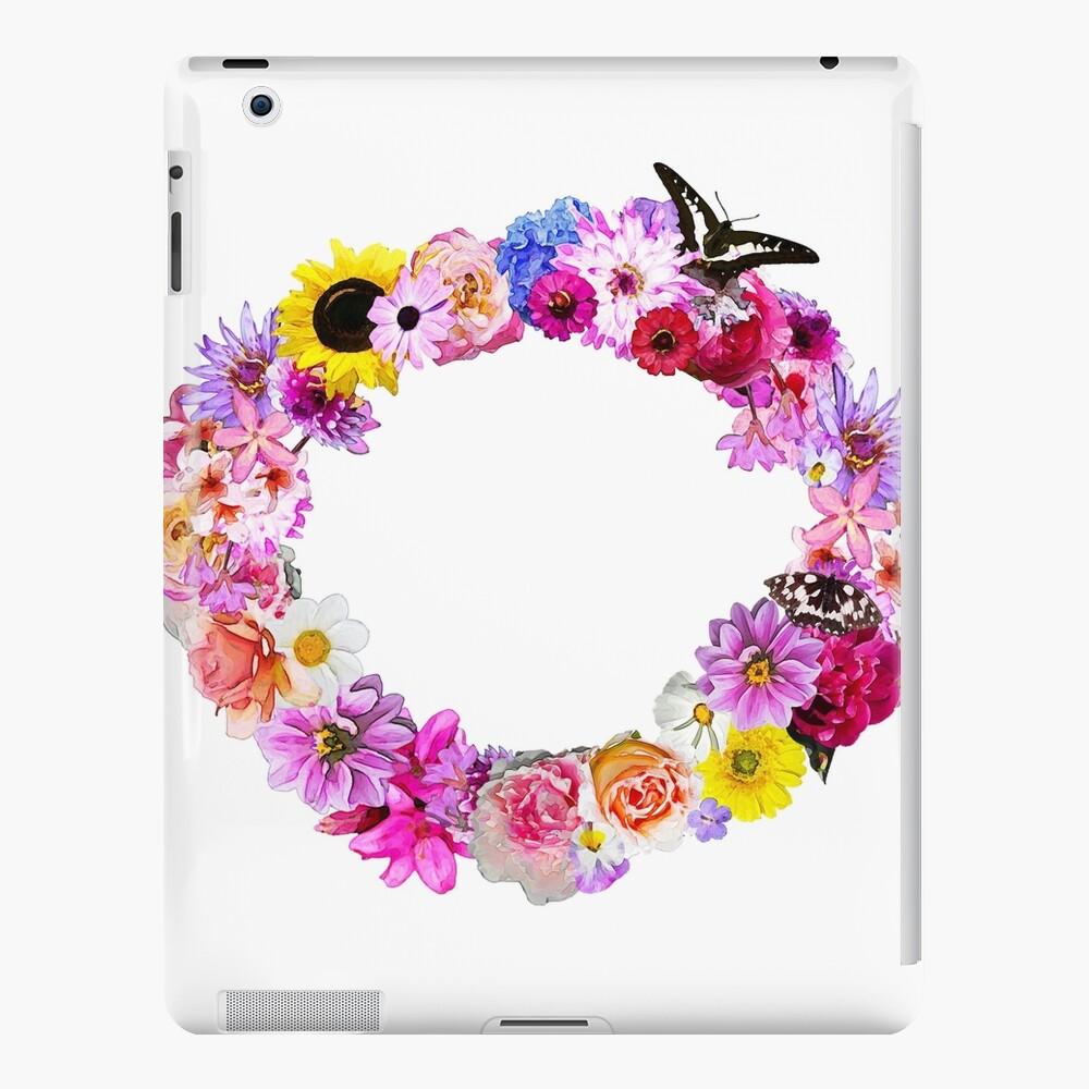 Guirnalda de flores, Flor Lámina, 8x10, Flor de la acuarela, Reproducciones de flores, Decoración del hogar, Vivero, Floral Funda y vinilo para iPad
