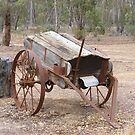 A non working seed drill Aussie style by David Smith