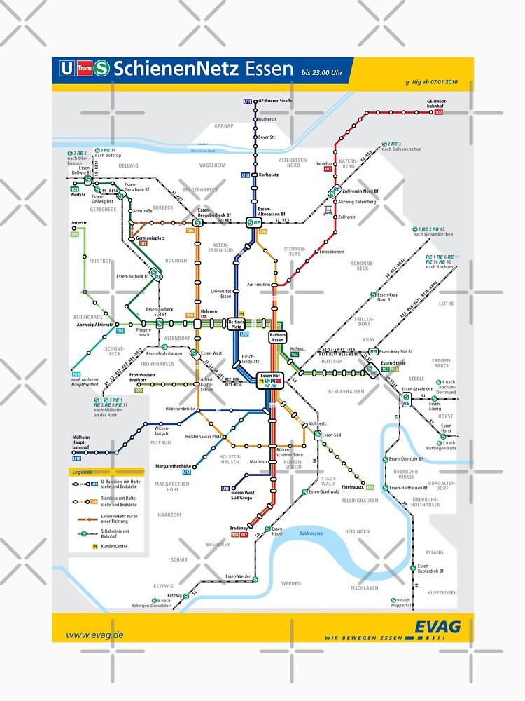 Essen Metro Subway U Bahn S Bahn Map Germany Classic T