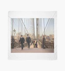 Brooklyn Bridge, New York, 1905 — Colorized Scarf