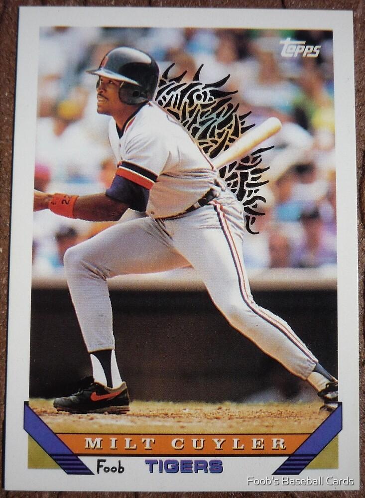 096 - Milt Cuyler by Foob's Baseball Cards