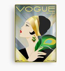Lámina metálica VOGUE: Vintage 1929 Magazine Flapper Advertising Print