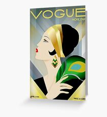 VOGUE : Vintage 1929 Magazine Flapper Advertising Print Greeting Card