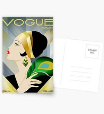 Postales VOGUE: Vintage 1929 Magazine Flapper Advertising Print