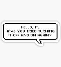 Hello, IT. Sticker