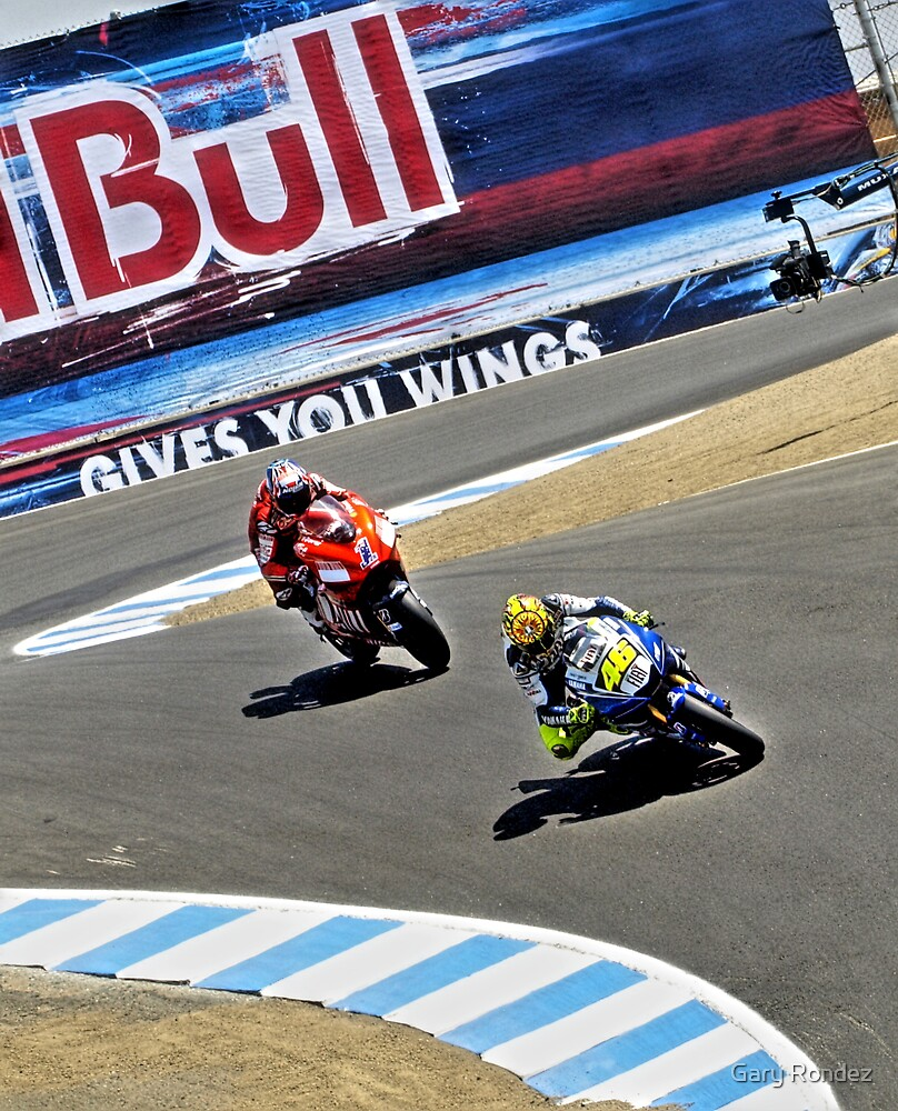 Rossi and Stoner by Gary Rondez