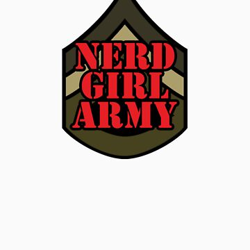 Nerd Girl Army Emblem by rachelyoung