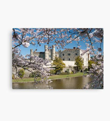 Easter Blossom: Leeds Castle. Kent UK Canvas Print