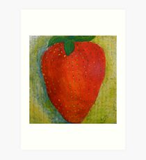 Strawberry, No Cream Art Print