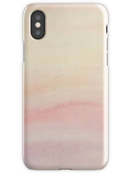 Ombre Blush Pink Watercolor Hand-Painted Effect