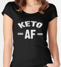 Keto AF Women's Fitted Scoop T-Shirt