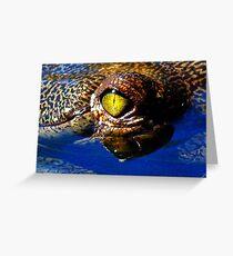 Eye of a GAVIAL....Wicked! Greeting Card