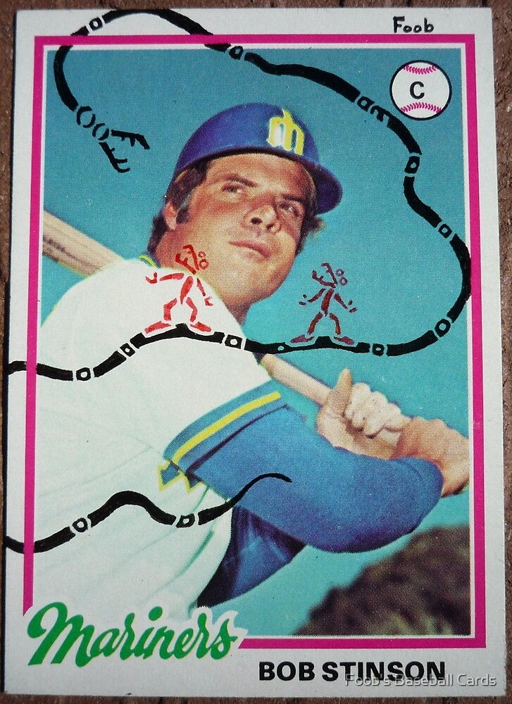124 - Bob Stinson by Foob's Baseball Cards