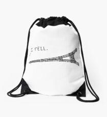 I Fell Tower - Funny French pun Drawstring Bag
