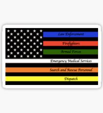 Police, Firefighter, Military, EMS, and Search and Rescue, Dispatch Thin Line  Sticker