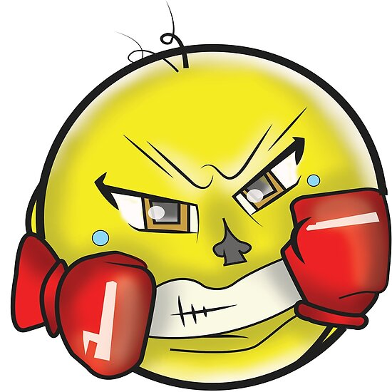 boxing fighter emoji w gloves posters by gtartland redbubble