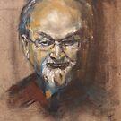 Portrait of Sir Salman Rusdie by Christel  Roelandt